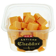 H-E-B Artisan Yellow Cheddar Cheese Cubes