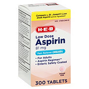 H-E-B Aspirin Low Strength 81 mg Enteric Coated Tablets