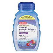 H-E-B Assorted Berries Extra Strength Smooth Antacid Chewable Tablets