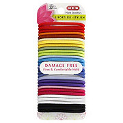 H-E-B Assorted Colors Damage Free Hair Elastic Bands