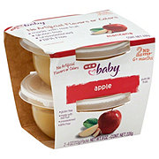 H-E-B Baby 2nd Step Apple Baby Food Cups 2 pk