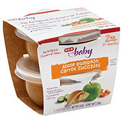H-E-B Baby 2nd Step Apple Carrot Pumpkin Zucchini Baby Food Cups 2 pk