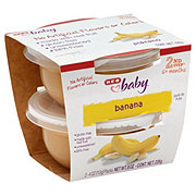 H-E-B Baby 2nd Step Banana Baby Food Cups 2 pk