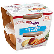 H-E-B Baby 2nd Step Banana Mango Carrot Baby Food Cups 2 pk