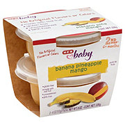 H-E-B Baby 2nd Step Banana Pineapple Mango Baby Food Cups 2 pk