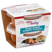 H-E-B Baby 2nd Step Sweet Potato Pumpkin Zucchini Baby Food Cups 2 pk