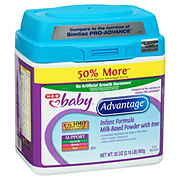 H-E-B Baby Advantage Infant Formula with Iron Milk-Based Powder (0-12 Months)