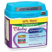 H-E-B Baby Advantage Infant Formula with Iron Milk-Based Powder (0-12 Months)