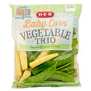 H-E-B Baby Corn Vegetable Trio