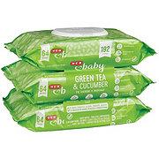 H-E-B Baby Green Tea & Cucumber Wipes 3 pk