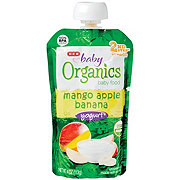 H-E-B Baby Organics Banana Apple Mango Yogurt