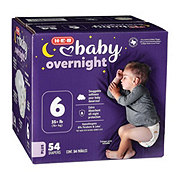 H-E-B Baby Overnight Diapers, 54 ct