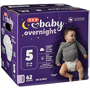 H-E-B Baby Overnight Diapers, 62 ct