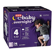 H-E-B Baby Overnight Diapers, 74 ct