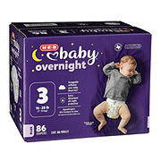 H-E-B Baby Overnight Diapers, 86 ct