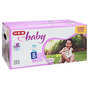 H-E-B Baby Plus Pack Diapers, 124 ct