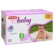 H-E-B Baby Plus Pack Diapers, 160 ct