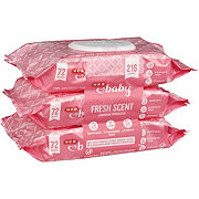 H-E-B Baby Scented Wipes 3 pk