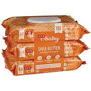 H-E-B Baby Shea Butter Wipes 3 pk