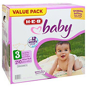 H-E-B Baby Value Pack Diapers, 240 ct