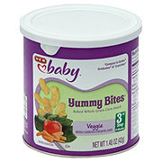 H-E-B Baby Yummy Bites Baked Batons Veggie