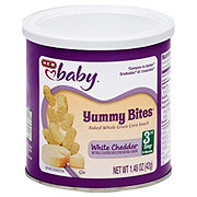 H-E-B Baby Yummy Bites Baked Batons White Cheddar