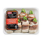 H-E-B Bacon Wrapped Jalapenos with Cheddar Cream Cheese