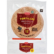 H-E-B Bake Shop 100% Whole Wheat Flour Tortillas