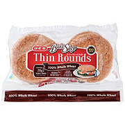 H-E-B Bake Shop 100% Whole Wheat Thin Rounds