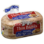 H-E-B Bake Shop Everything Thin Bagels