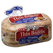 H-E-B Bake Shop Everything Thin Bagels