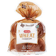 H-E-B Bake Shop Wheat Hamburger Buns