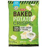 H-E-B Baked Sour Cream and Onion Flavored Potato Crisps