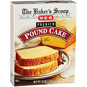 H-E-B Baker's Scoop Premium Pound Cake Mix