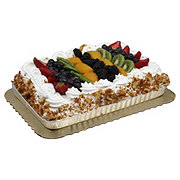 H-E-B Bakery Tres Leches 1/4 Sheet With Fully Topped Fruit
