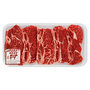 H-E-B Beef Chuck Shoulder Flanken Style Ribs Bone-In