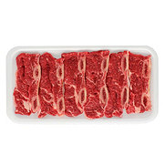 H-E-B Beef Chuck Shoulder Flanken Style Ribs Thin Bone-In