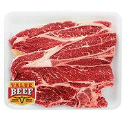 H-E-B Beef Chuck Steak Bone-In Value Pack, Value Beef, 2-3 steaks