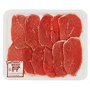 H-E-B Beef Eye of Round Steak Tenderized Value Pack, USDA Select, 9-10 steaks