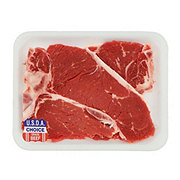 H-E-B Beef Loin T-bone Steak Thin USDA Choice