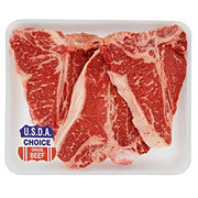 H-E-B Beef Loin T-Bone Steak Value Pack, USDA Choice, 3-4 steaks