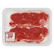 H-E-B Beef New York Strip Steak Bone-In Thin USDA Select