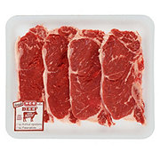 H-E-B Beef New York Strip Steak Bone-In Thin Value Pack  USDA Select