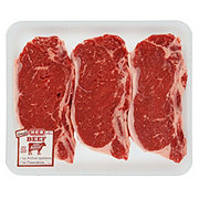 H-E-B Beef New York Strip Steak Bone-In Value Pack USDA Select