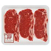 H-E-B Beef New York Strip Steak Bone-In Value Pack, USDA Select, 3-4 steaks