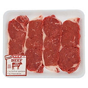 H-E-B Beef New York Strip Steak Boneless Value Pack USDA Select