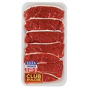 H-E-B Beef Petite Sirloin Steaks Boneless Club Pack, USDA Choice, 7-8 steaks