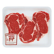 H-E-B Beef Ribeye Steak Bone-In Thick Value Pack USDA Select
