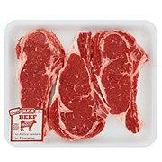 H-E-B Beef Ribeye Steak Bone-In Value Pack, USDA Select, 3-4 steaks