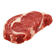 H-E-B Beef Ribeye Steak Boneless Thick Sliced Dry Aged